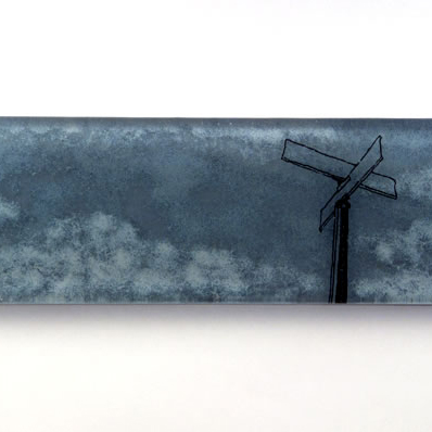 Glass, 11.75x4x0.75 inches, Jeanette Brown